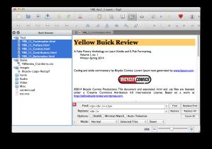 screenshot of selected files from Sigil